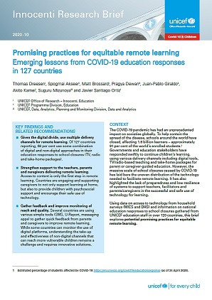 UNICEF Equitable Remote Learning
